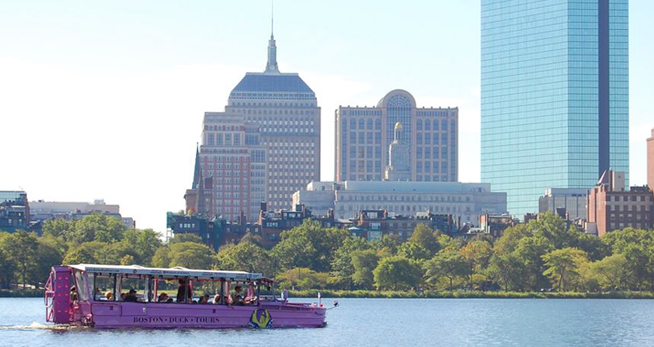 ELC students go on duck tour in Boston