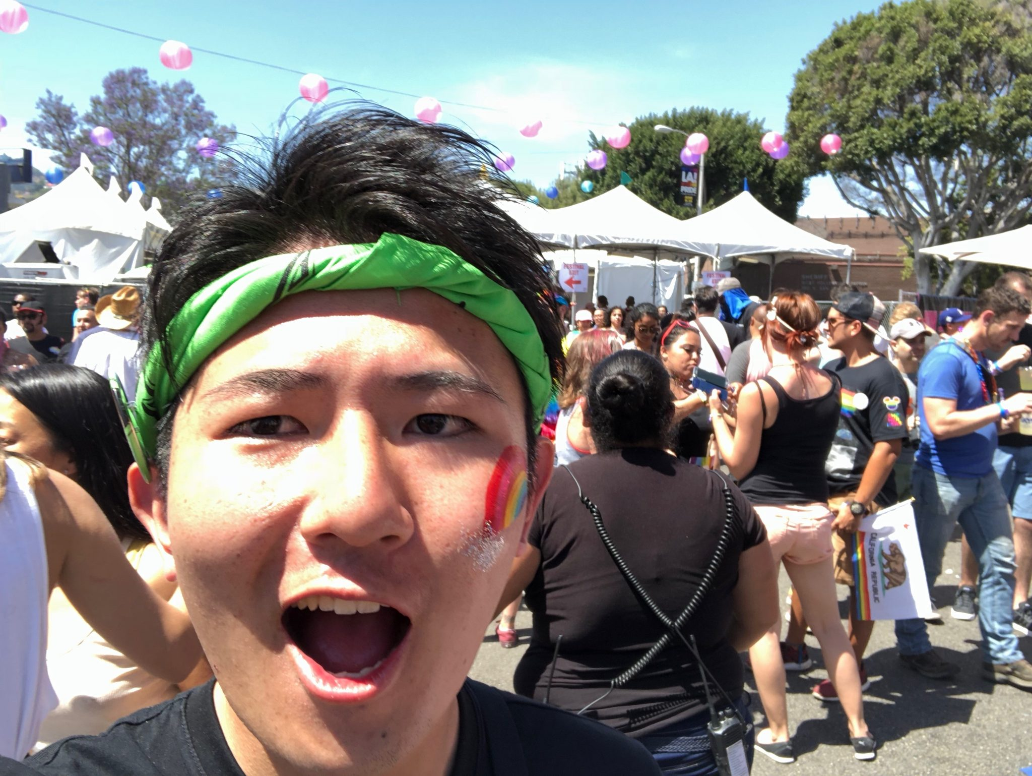Hiromasa having fun in Los Angeles