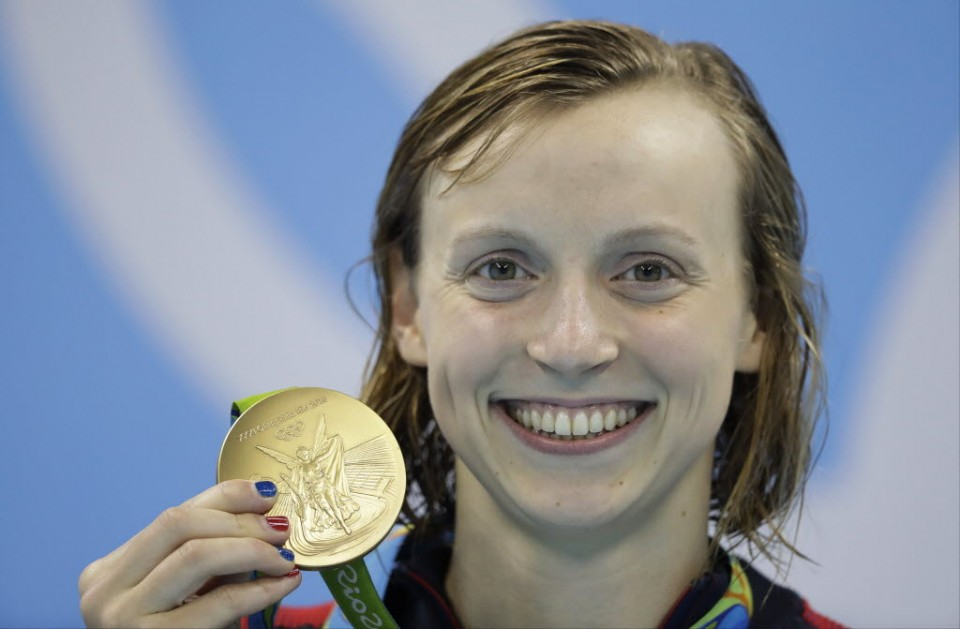 Katie Ledecky keeps winning gold medals because she has been swimming since she was very young.