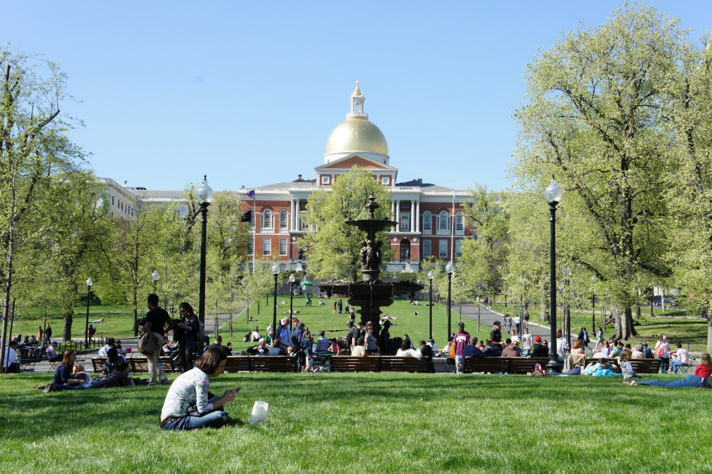 State House and Boston Common
