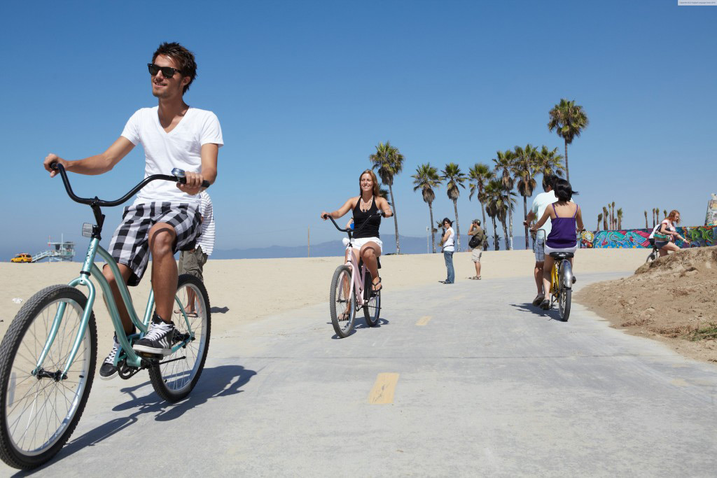 Santa Monica Beach Biking 2