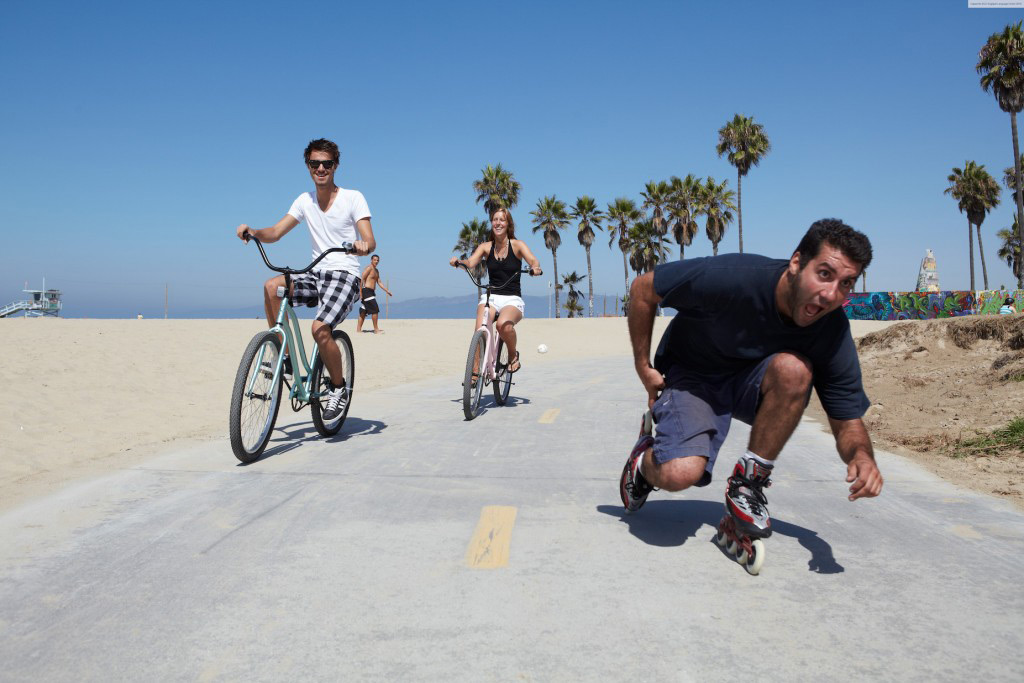 Santa Monica Beach Biking