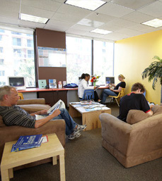 ELC Los Angeles School Center Student Lounge Overview